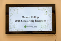 PSU Maseeh College of Engineering Scholarship Reception 2018