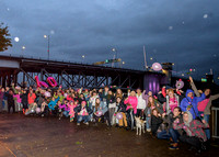 Planned Parenthood's 100th Birthday - The Morrison Bridge Turns Pink